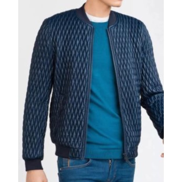 95e1964bf Zara Man Faux Leather Quilted Bomber Jacket